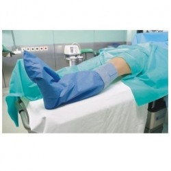 Matodrape pokrowiec na nogi pacjenta z przylepcami