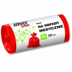 Service Pack czerwone worki na odpady medyczne