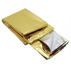 Koc ratunkowy termiczny srebrno-złoty