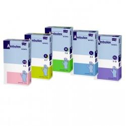 Rękawiczki jednorazowe ochronne nitrylowe Ambulex Nitryl niebieskie, niesterylne 100szt.