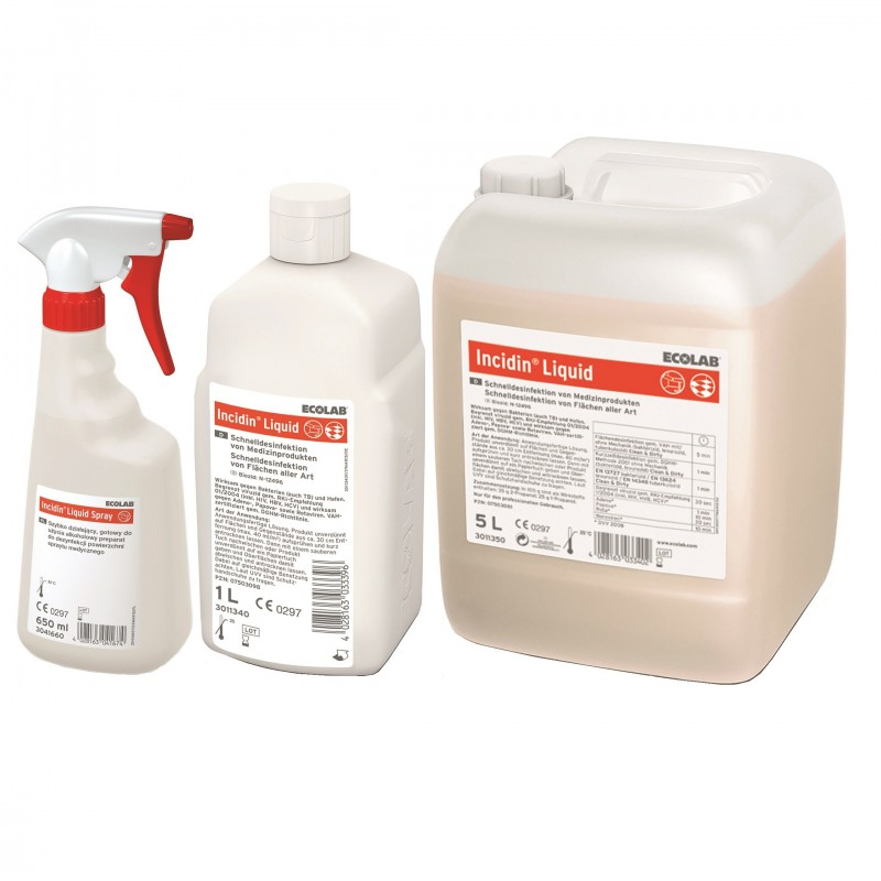 Ecolab Incidin Liquid Spray płyn do szybkiej dezynfekcji powierzchni