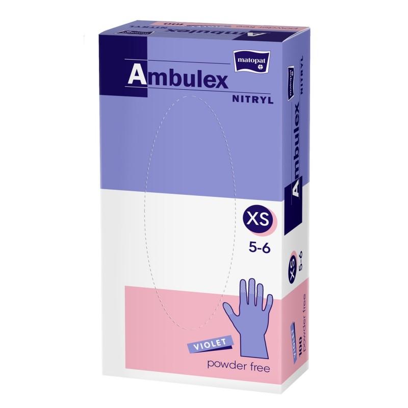Rękawiczki ochronne nitrylowe Ambulex Nitryl fioletowe, niesterylne