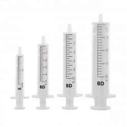 BD Discardit strzykawki 2-częściowe, luer