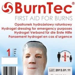 Opatrunek hydrożelowy ratunkowy BurnTec na twarz 1 szt.