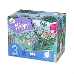 Bella Baby Happy pieluszki Midi Flexi Fit BOX 144 szt.