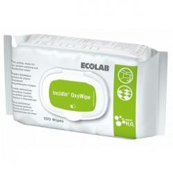 Ecolab Incidin OxyWipe chusteczki bezalkoholowe do dezynfekcji pow.