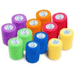 Bandaż elastyczny, samoprzylepny, jednorazowy SoftMed Mix kolorów I