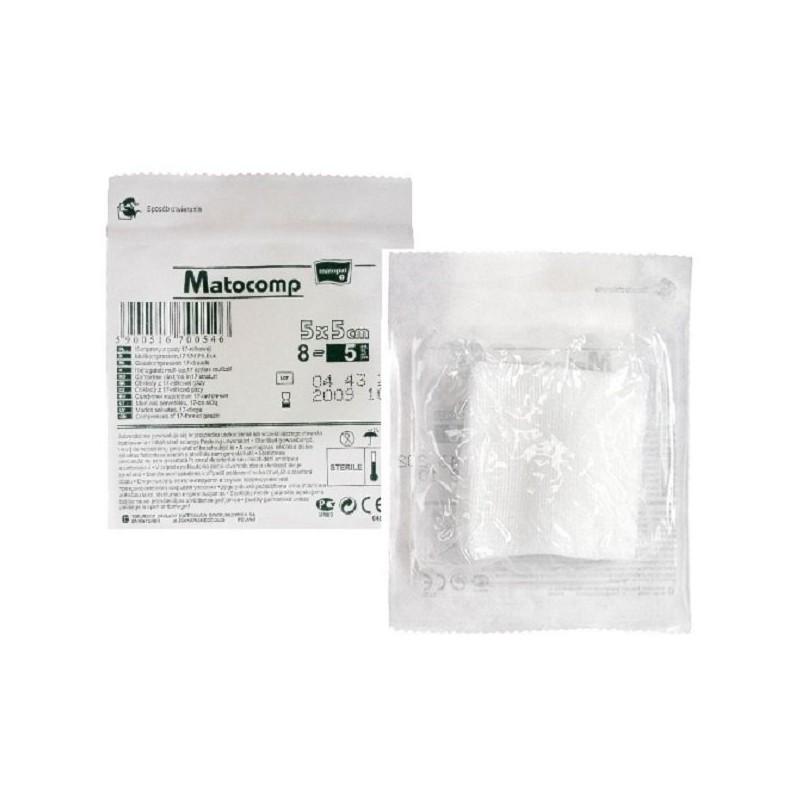 Matocomp kompresy z gazy jałowe, 17-nitkowe, blister