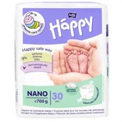 Bella Baby Happy pieluszki dla wcześniaków Nano do 700g - 30 szt.
