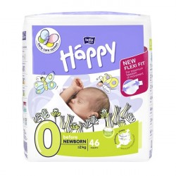 Pieluszki dla wcześniaków Happy New Flexi Fit Before Newborn (0) do 2 kg