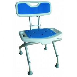 """Krzesło prysznicowe """"Blue"""" z oparciem, składane"""