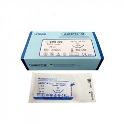 Amifil M 5/0 nici chirurgiczne niewchłanialne, niebieskie