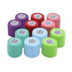 Bandaż elastyczny, samoprzylepny, jednorazowy SoftMed Mix kolorów II