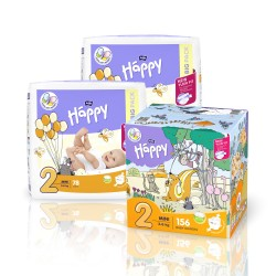 Pieluszki Bella Baby Happy New Flexi Fit Mini 3-6kg BOX 156 szt.
