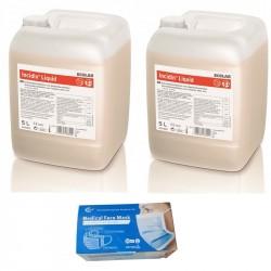 2x Ecolab Incidin Liquid Spray płyn do dezynfekcji powierzchni 5l + GRATIS Sunsmed Maseczki chirurgiczne 50 szt.