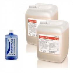 2x Ecolab Incidin Liquid Spray płyn dezynfekcji powierzchni 5L + GRATIS Bioseptol 80 Płyn do dezynfekcji rąk 500 ml