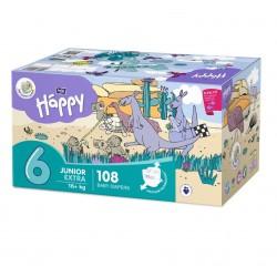 Bella Baby Happy pieluszki Junior Extra Flexi Fit BOX 108 szt.