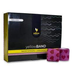 YellowSPORT Bandaż samoprzylepny YellowBAND różowe serca 12 szt.