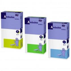 Ambulex Nitryl Rękawiczki jednorazowe ochronne nitrylowe fioletowe 100 szt.